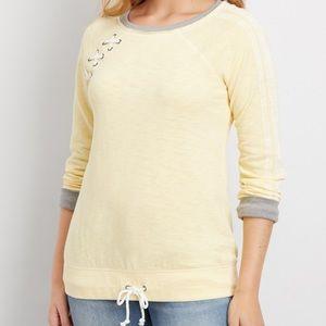 NWT Maurices Yellow Sweatshirt size: XL